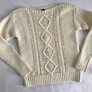 5/$20 Gap Kids Cream Gold Sequin Sweater 8 Holiday